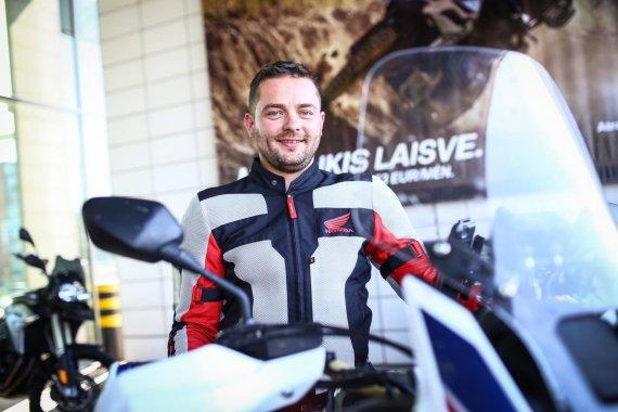 """Egidijaus Babelio nuotr./Rytis Markevičius, """"BMW Mototurizmo sprinto"""" spaudos konferencija"""