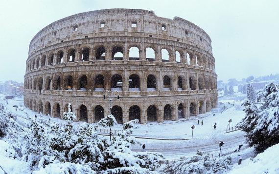 """""""Reuters""""/""""Scanpix"""" nuotr./Europą sukaustė iš Sibiro atslinkusi šalčio banga"""