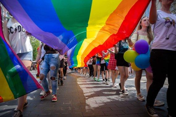 Žygimanto Gedvilos / 15min nuotr./LGBT eitynės Vilniuje