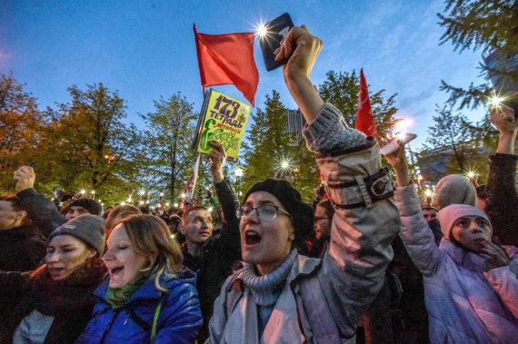 "AFP/""Scanpix"" nuotr./Protestas Jekaterinburge"