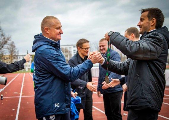 Rygos RFS klubo nuotr./Marius Skinderis (kairėje)