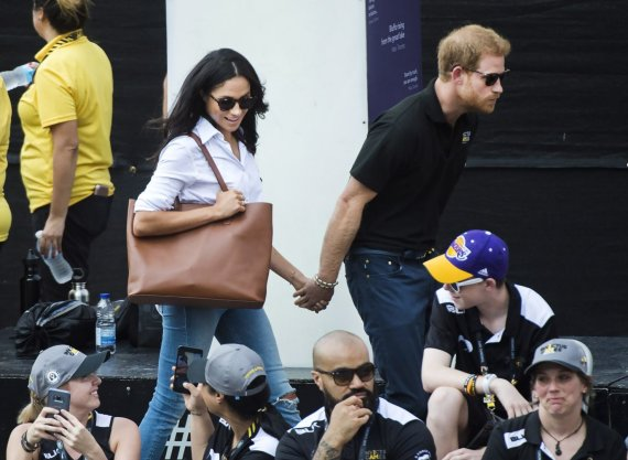 """Scanpix""/""PA Wire""/""Press Association Images"" nuotr./Princas Harry ir Meghan Markle"