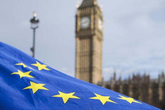 "AFP/""Scanpix"" nuotr./ES vėliava Londone"
