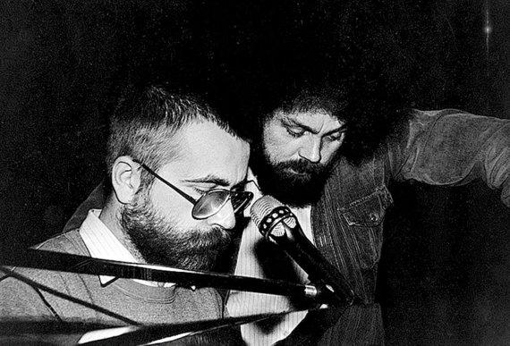 Vytauto Kernagio fondo archyvo nuotr. /Vytautas Kernagis (kairėje) ir Andrius Kulikauskas