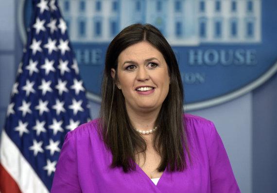 """""""Scanpix""""/AP nuotr./Sarah Huckabee Sanders"""