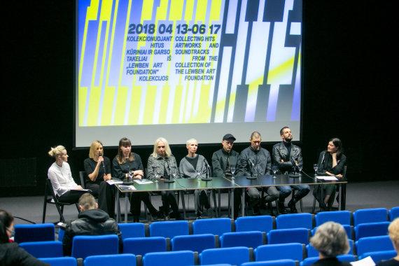 """Juliaus Kalinsko / 15min nuotr./NDG parodos """"Kolekcionuojant hitus"""" spaudos konferencija"""