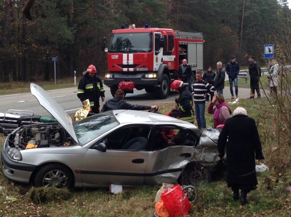 15min.lt nuotr./Avarija kelyje Vilnius – Alytus