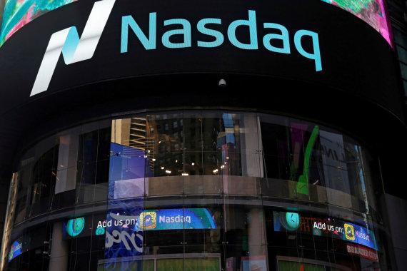 """""""Reuters""""/""""Scanpix"""" nuotr./Akcijų birža """"Nasdaq"""""""