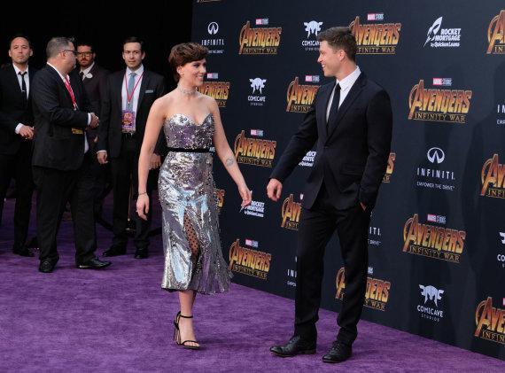 Vida Press nuotr./Scarlett Johansson ir Colinas Jostas