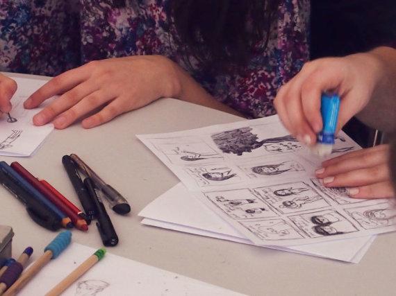 KKKC nuotr./Klaipėdoje savaitgalį veiks istorinių komiksų kūrybos dirbtuvės.