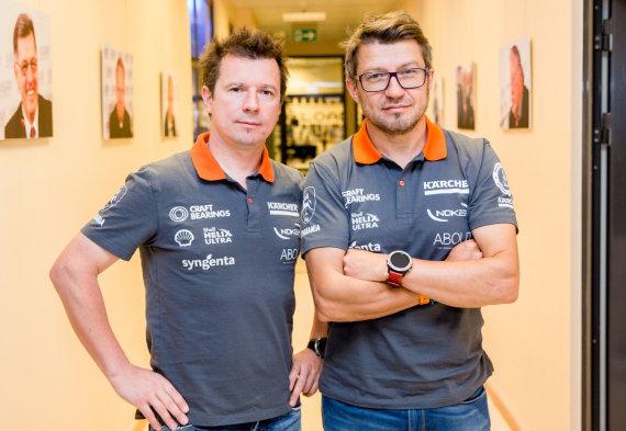 Luko Balandžio / 15min nuotr./15min studijoje – rekordą iš Dakaro parvežę Antanas Juknevičius ir Darius Vaičiulis