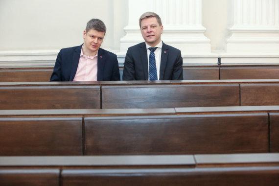 Vidmanto Balkūno / 15min nuotr./Aleksandras Zubriakovas ir Remigijus Šimašius