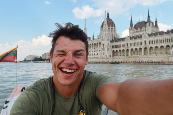 Asm.archyvo nuotr./A.Valujavičiaus kelionė Dunojumi