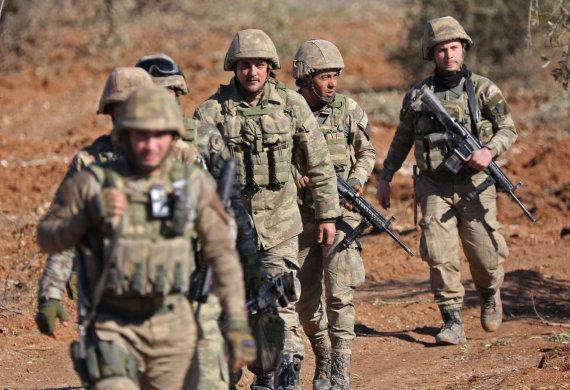 """AFP/""""Scanpix"""" nuotr./Turkijos kariai Sirijoje"""