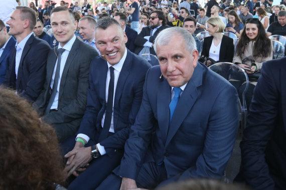 Eriko Ovčarenko / 15min nuotr./Šarūnas Jasikevičius ir Željko Obradovičius