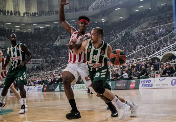 Getty Images/Euroleague.net nuotr./Lukas Lekavičius ir Zachas Leday'us