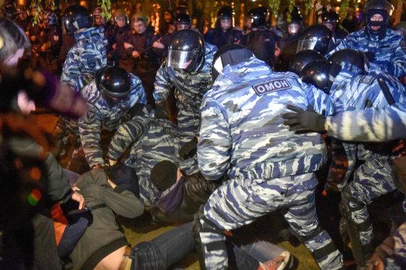 """AFP/""""Scanpix"""" nuotr./Tęsiasi neramumai Jekaterinburge"""