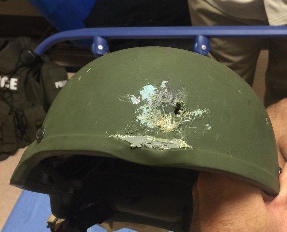 Orlando policijos nuotr./Policininko šalmas