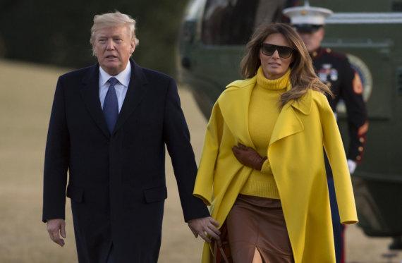 """AFP/""""Scanpix"""" nuotr./Donaldas Trumpas ir Melania Trump"""