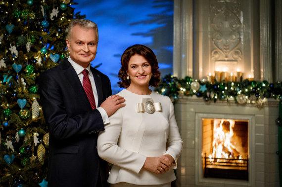 Prezidentūros nuotr./Prezidentas Gitanas Nausėda ir ponia Diana Nausėdienė