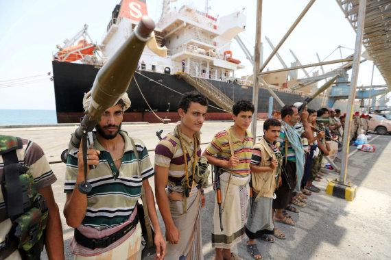 """""""Reuters""""/""""Scanpix"""" nuotr./Husių sukilėliai Chudaidoje"""