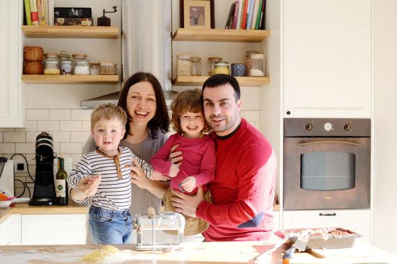 Asmeninio archyvo nuotr./Gian Luca Demarco su šeima