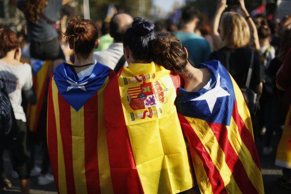 """Scanpix""/AP nuotr./Protestas Barselonoje"