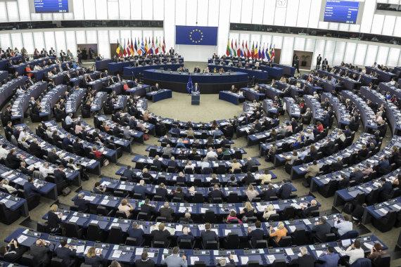 """""""Scanpix""""/AP nuotr./Europos Komisijos vadovo Jeano-Claude'o Junckerio metinis kreipimąsis į Europos Parlamentą"""