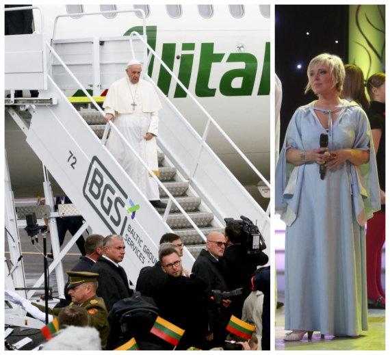 15min nuotr./Popiežius Pranciškus ir Eurika Masytė