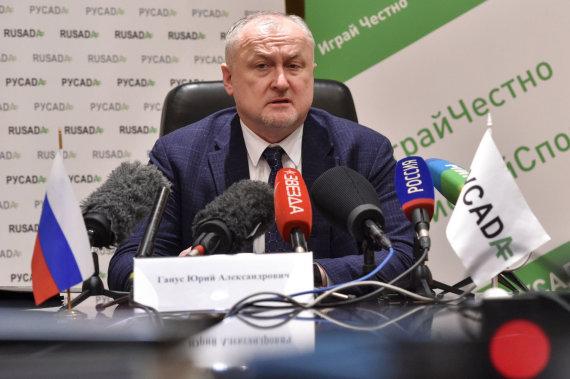 """""""Reuters""""/""""Scanpix"""" nuotr./Rusijos antidopingo agentūros vadovas Jurijus Ganusas."""