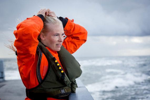 Vidmanto Balkūno / 15min nuotr./Pilotės baigė išgyvenimo jūroje kursą