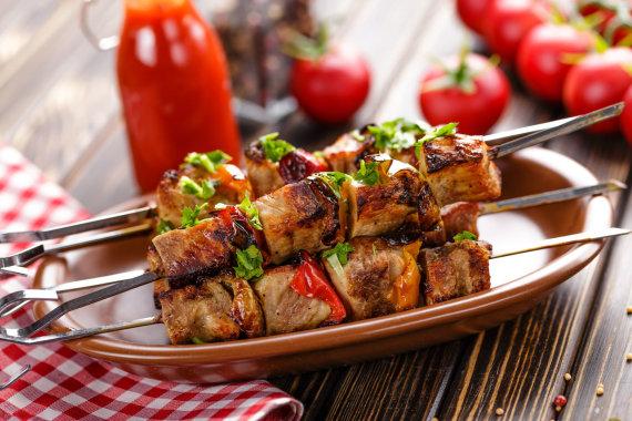 123RF.com nuotr./Mėsos šašlykas