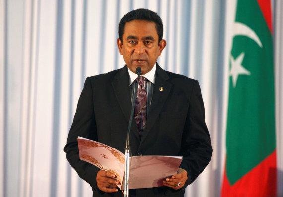 """Reuters""/""Scanpix"" nuotr./Maldyvų prezidentas Abdulla Yameenas"