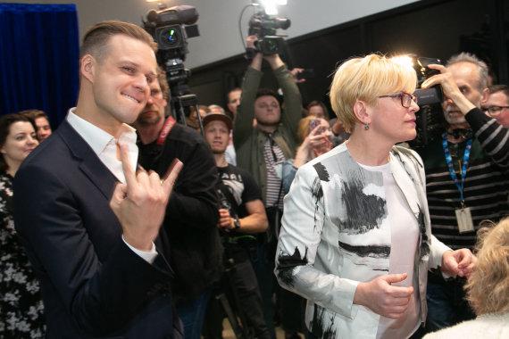 Josvydo Elinsko / 15min nuotr./Gabrielius Landsbergis ir Ingrida Šimonytė