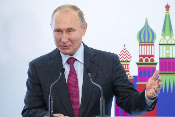 """""""Scanpix""""/AP nuotr./V.Putinas Izraelio interesus užsienyje remiančio fondo """"Keren Hayesod"""" kongrese"""