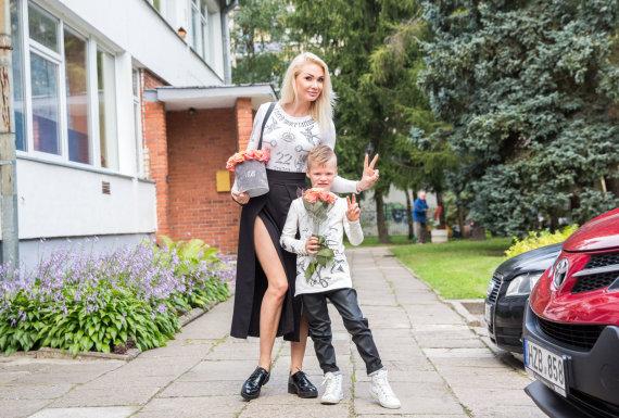 Luko Balandžio / 15min nuotr./ Natalija Bunkė su sūnumi