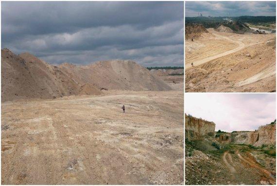 TrenkTuro.lt nuotr./Akmenės karjeras, primenantis Marso kanjonus