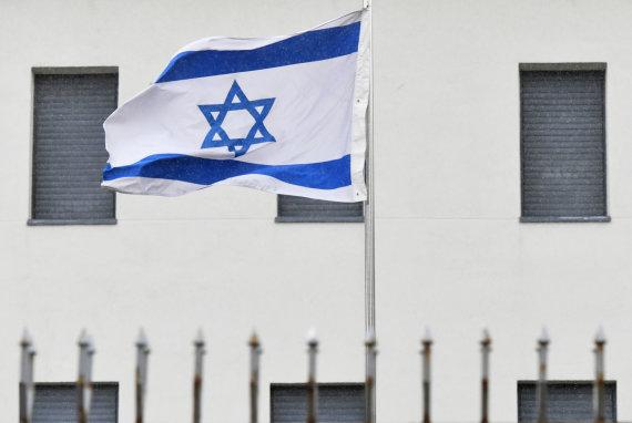 """Scanpix"" nuotr./Izraelio vėliava"