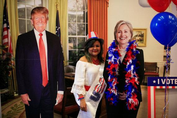 """""""Reuters""""/""""Scanpix"""" nuotr./Amerikiečiai balsuoja prezidento rinkimuose"""