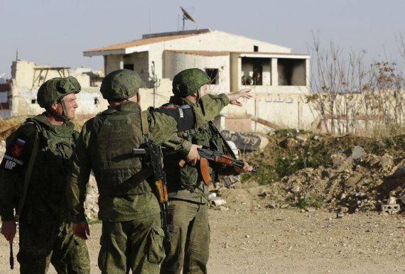 """AFP/""""Scanpix"""" nuotr./Rusijos kariai Sirijoje"""