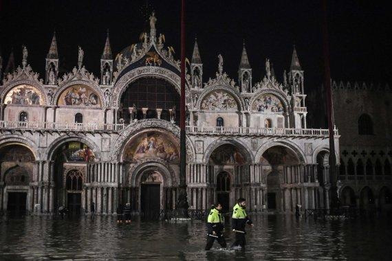 "AFP/""Scanpix"" nuotr./Potvynis Venecijoje"