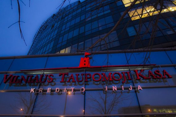 Irmanto Gelūno / 15min nuotr./Didžiausia kredito unija – Vilniaus taupomoji kasa – paskelbta nemokia.