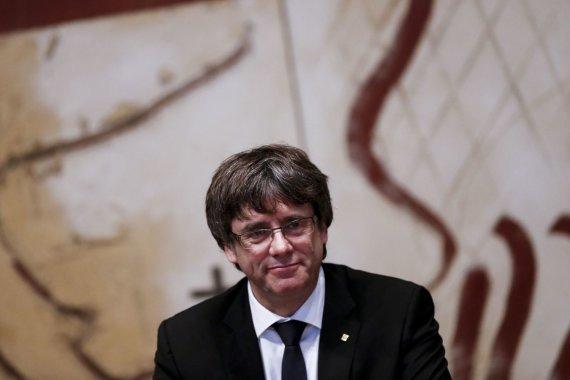 """AFP/""""Scanpix"""" nuotr./Katalonijos vadovas Carlesas Puigdemontas"""