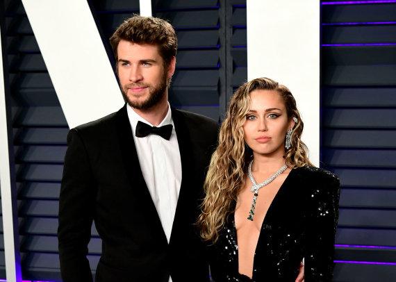 """""""Scanpix"""" nuotr./Miley Cyrus ir Liamas Hemsworthas"""