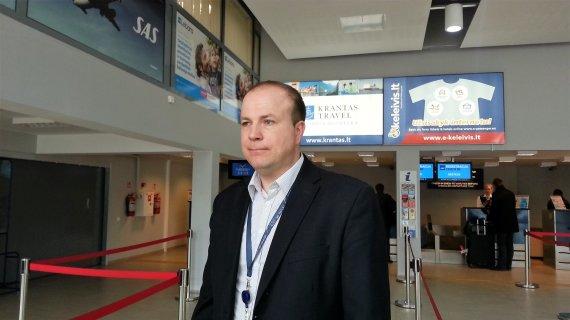 15min nuotr./Palangos oro uosto vadovas Marius Gelžinis.