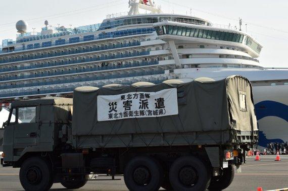 """AFP/""""Scanpix"""" nuotr./Karantinuotas """"Diamond Princess"""" laivas"""