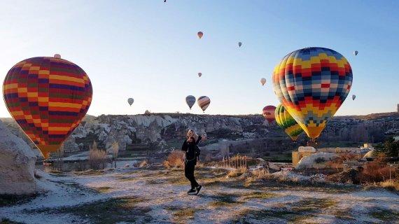 """""""Grūdos"""" nuotr./Kelionių organizatoriaus """"GRŪDA"""" kelionių ekspertė E.Miliauskienė Kapadokijoje, Turkija"""