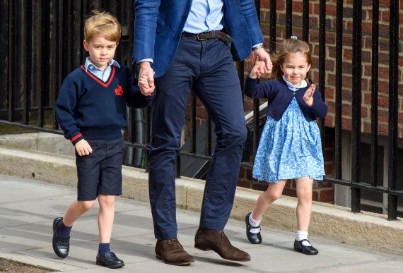 """Scanpix""/""PA Wire""/""Press Association Images"" nuotr./Princas George'as ir princesė Charlotte"