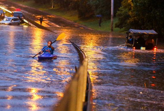 Luko Balandžio / 15min nuotr./Potvynis Vilniuje
