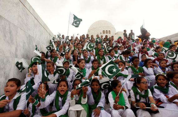 """""""Reuters""""/""""Scanpix"""" nuotr./70-osios Pakistano nepriklausomybės metinės"""